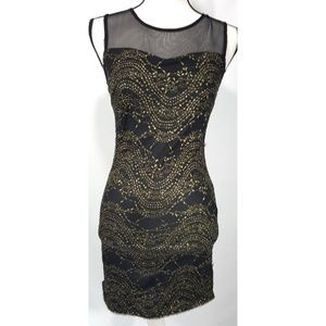Sparkle & Fade Little Black Dress Size Small